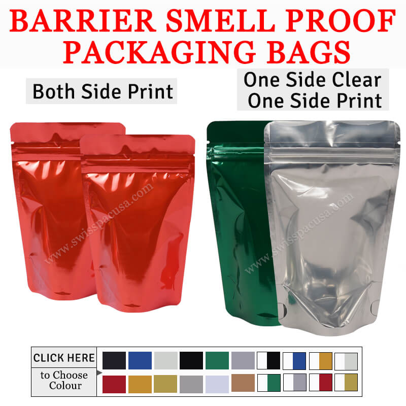 BARRIER SMELL PROOF PACKAGING BAGS
