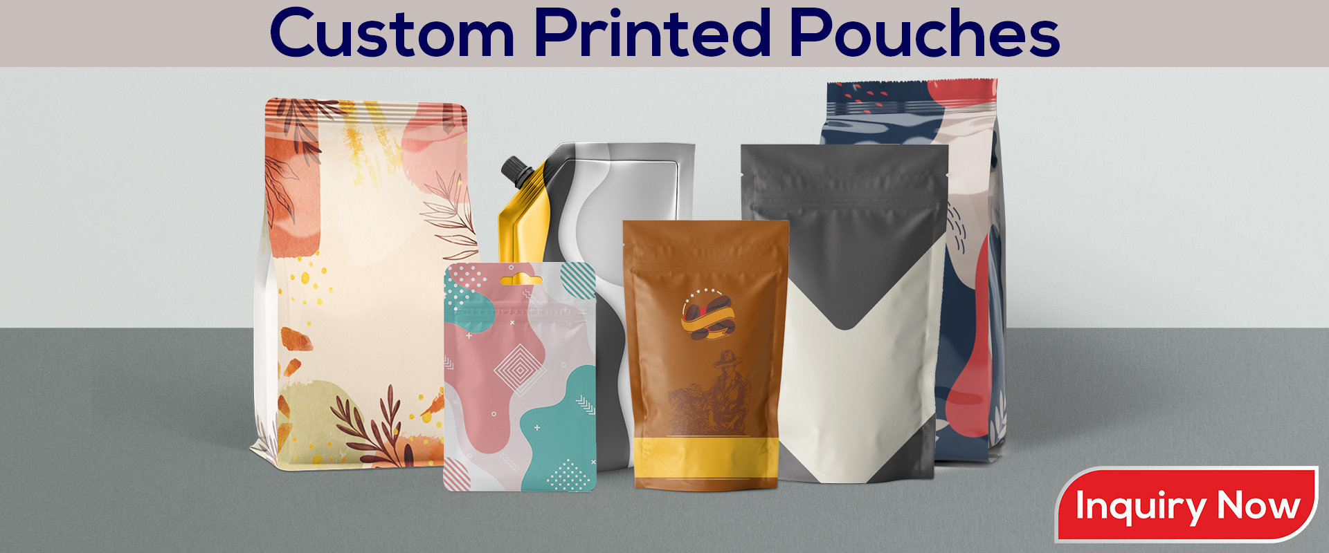 2 to 3 Color Custom Pouches