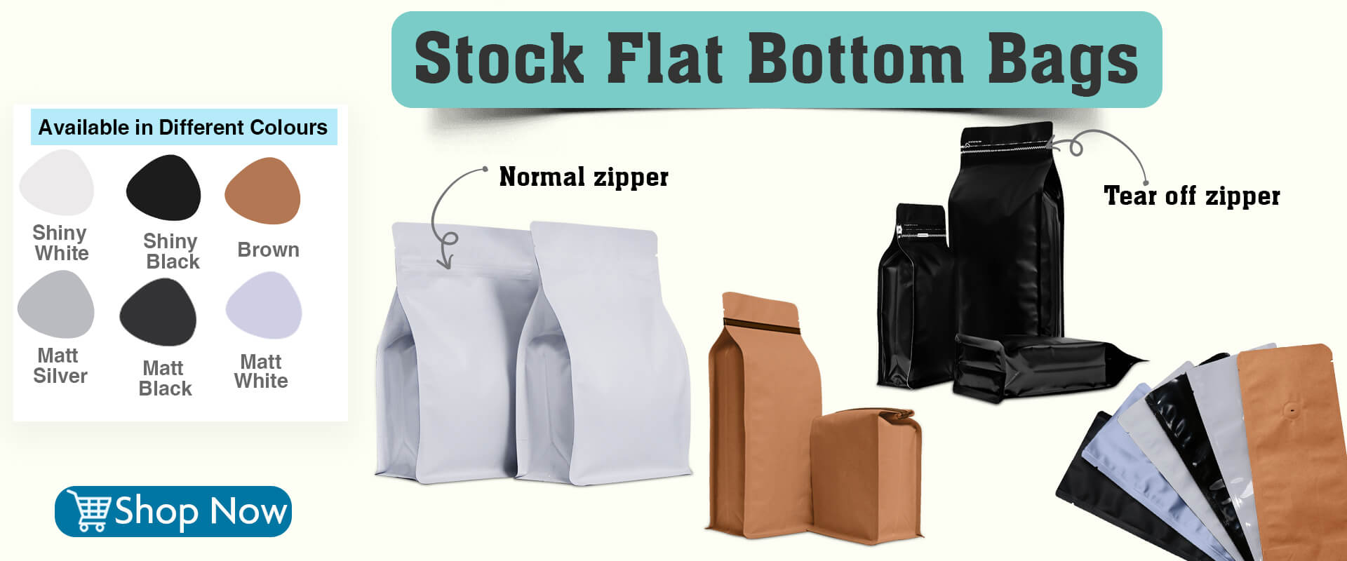 Flat bottom pouches