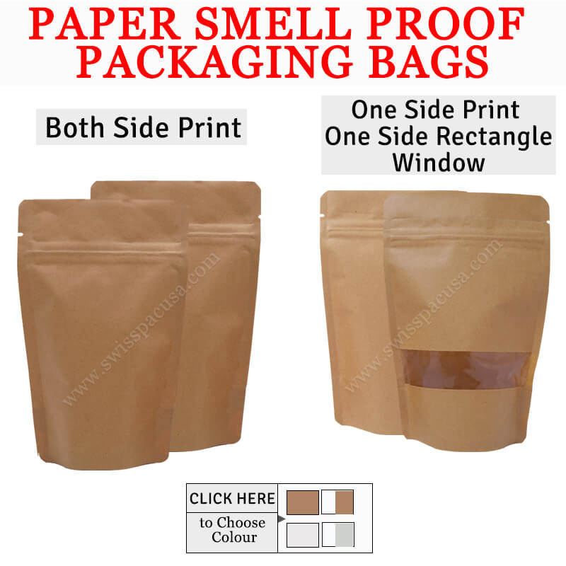 PAPER SMELL PROOF PACKAGING BAGS