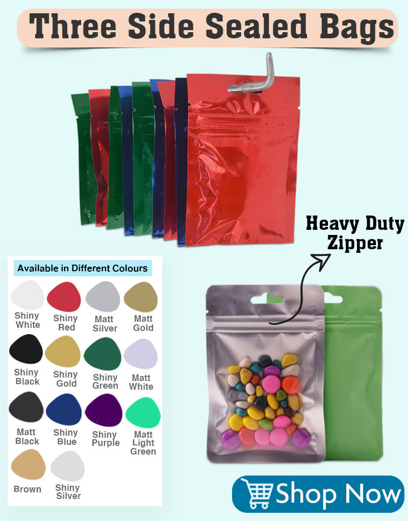 Three Sided Seal bags